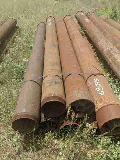 "(8) 8"" x 10' Metal Pipe: (Located in Headland, Alabama)"