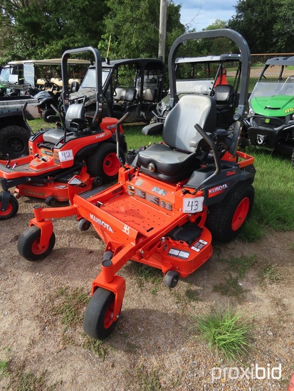 Kubota Z724XKW-2 Zero-turn Mower, s/n 50879: Meter Shows 580 hrs