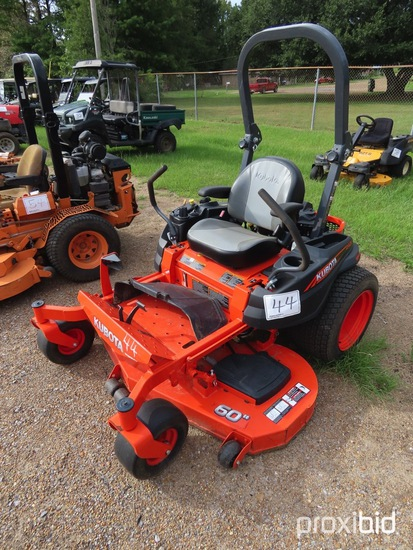Kubota Z421KWT-60 Zero-turn Mower, s/n 22018: Meter Shows 85 hrs