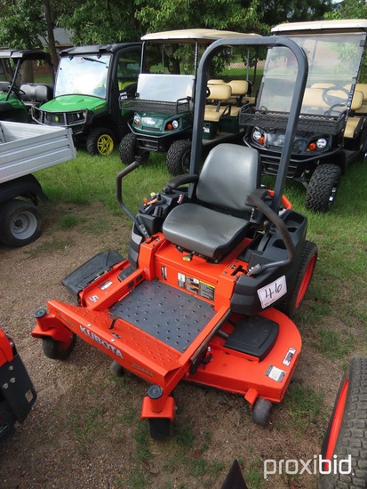 Kubota ZG127S-54 Zero-turn Mower, s/n 11488: Meter Shows 136 hrs