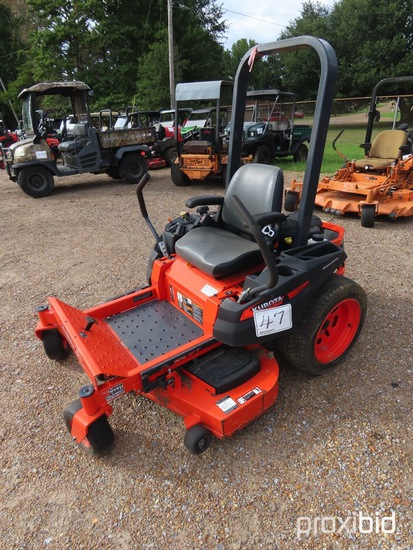 "Kubota Z122E Zero-turn Mower, s/n 17704: Gas Eng., 48"" Deck, Meter Shows 24"