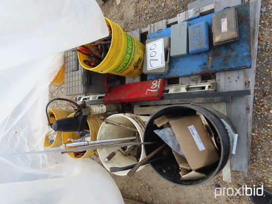 Lot of Tools, Buckets, Pliers, Sockets, Portable Grease Gun