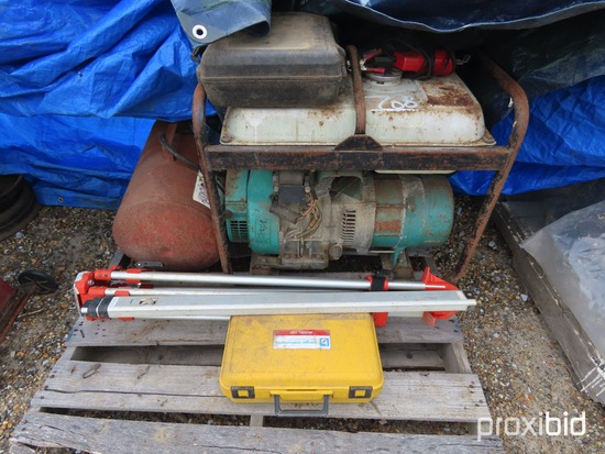 Lot of Level, Generator, Air Tank