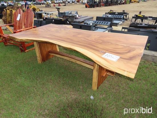 Solid Slab Wood Table