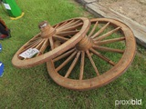 (2) Wagon Wheels