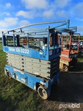 2007 Genie GS3232 Scissor-type Manlift, s/n 87008: Battery-powered, 500 lb.