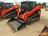 2017 Kubota SVL75-2HWC Skid Steer, s/n 33189: C/A, Meter Shows 927 hrs