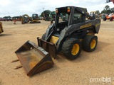 New Holland LS185B Skid Steer, s/n 410318: w/ Bkt. & Forks, Meter Shows 136
