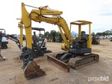 Komatsu PC50UU Mini Excavator, s/n 6612: Canopy, Manual Thumb, 78