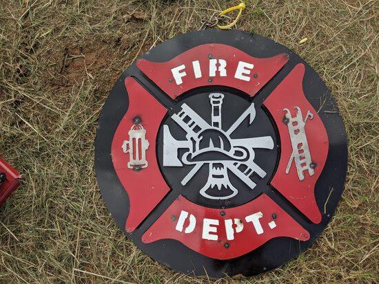 Fire Dept. Metal Sign
