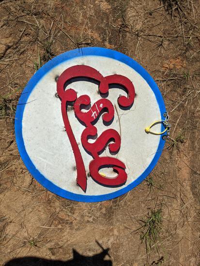 ESSO Round Metal Sign