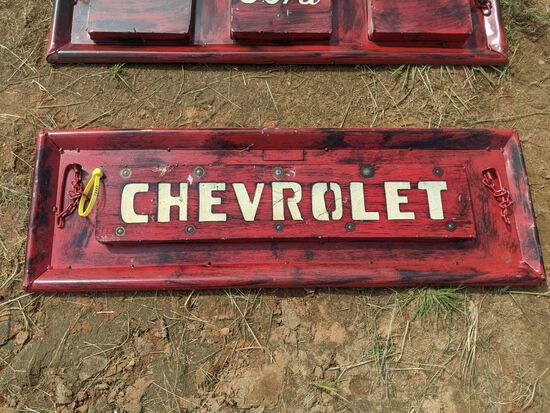 Metal Mini Chevrolet Tailgate Hanging Art