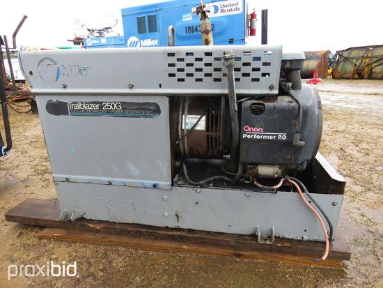 Miller Trailblazer 250G Welder/Generator, s/n KE734991, CC/CV, AC/DC, ID 42