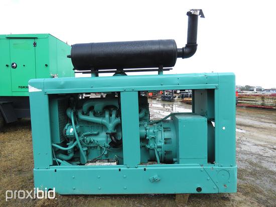 Onan 50KW Generator: Skid-mounted, Ford 6-cyl. Diesel, ID 42391