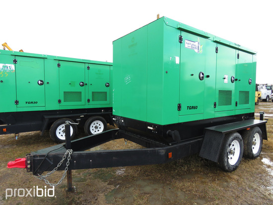 Taylor TGR60 50KW Generator: Portable, PSI V8 Natural Gas/LP Eng., 3-phase,