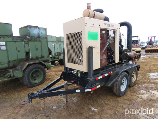 """2010 Cornell 8"""" Portable Trash Pump: JD Diesel, Dual 8"""" Inlets & Outlets, S"""