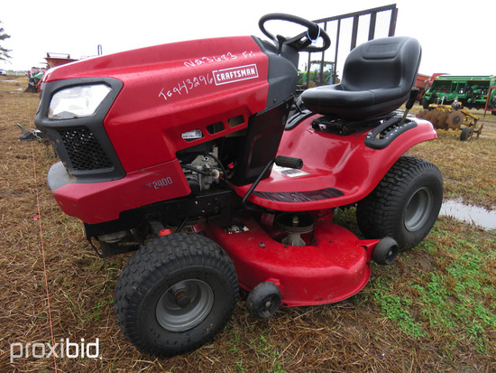 "2013 Craftsman T2400 Mower, s/n 009271: 46"" Cut, 19hp, ID 43296"