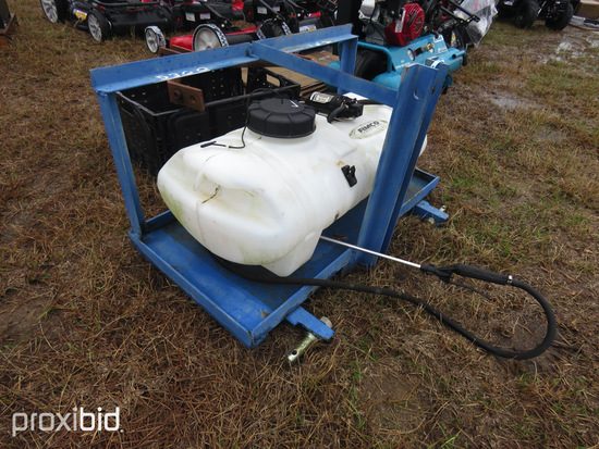 15-gallon 3pt Sprayer and Crate of Misc. Items: ID 43036