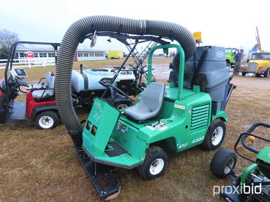 Tenant ATLU4300 Ride-on Vacuum Sweeper, s/n 420-1063: 6221 hrs, ID 43302