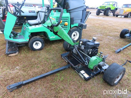 John Deere 220SL Reel Mower, s/n 804341 w/ Trailer: ID 43261