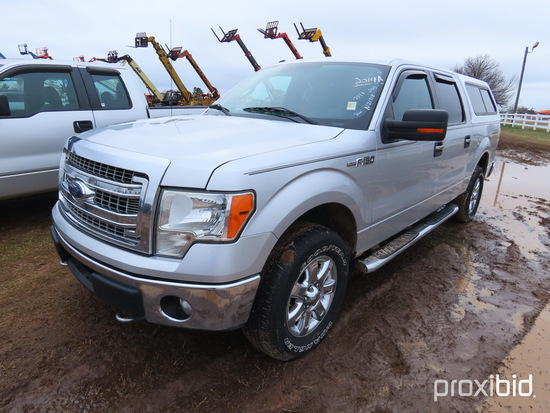 2013 Ford F150 XLT Pickup, s/n 1FTFW1EF3DFB63935: Covered Bed, 284K mi., ID