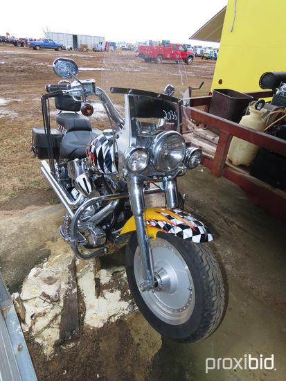 2002 Harley Davidson Fatboy Motorcycle, s/n 1HD1BHY102Y079272: 23K mi., ID