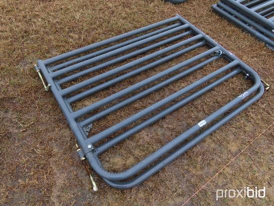 (2) 6' Metal Bull Gates: ID 42664