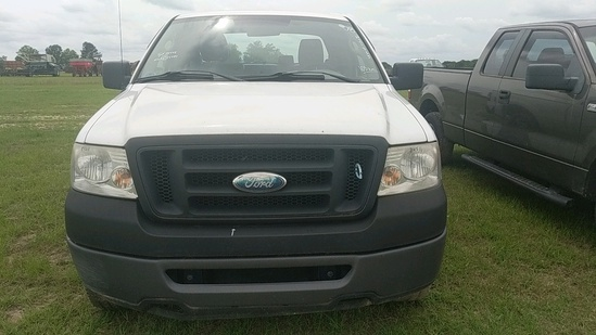 2008 FORD F150 EXTENDED CAB, WHITE, 105,873mi.  s/n 1FTRX14W78FC14497  (OWN