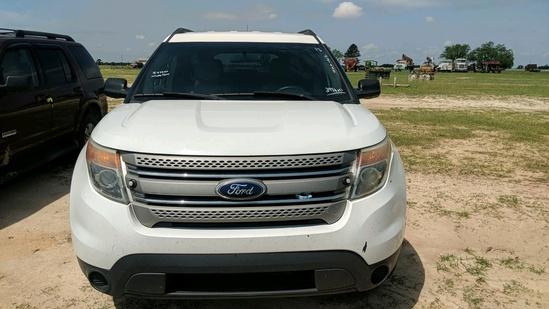 2013 FORD EXPLORER SUV, WHITE,  247,323mi.  s/n 1FM5K8B84DGA67310  (OWNED B