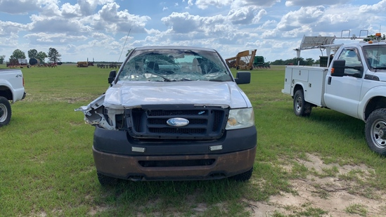 2008 FORD F150 EXTENDED CAB PICK UP, WHITE, MFWD, INOPERABLE,  s/n 1FTRX14W