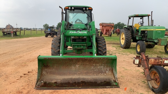 2004 JOHN DEERE 6420 TRACTOR WITH CAB, 640 FRONT END LOADER W/ BUCKET, POWE