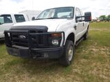 2009 FORD F250 TRUCK WHITE VIN 1FTSX215X9EA60913