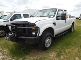 2008 FORD F250 TRUCK WHITE MILES AS SHOWN 226167 VIN 1FTSX21528EB24313