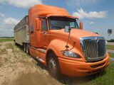 2010 INTERNATIONAL PROSTAR VIN-3HSCUAPR8AN249187, Orange, Showing 833792 Mi
