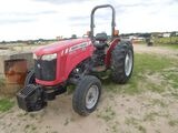 MASSEY FERGURSON 2615 TRACTOR WITH ROPS, 2WD, S/N - 693180, SHOWING 2635 HO