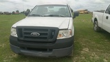 2005 FORD F150 EXTENDED CAB, WHITE, 123,766mi.  s/n 1FTRF12265NBB6115  (OWN