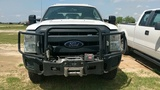 2015 FORD F250 CREW CAB, WHITE, WITH WORK TOPPER, 177,255mi. s/n 1FT7W2B64F