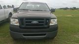2008 FORD F150 EXTENDED CAB 4 DOOR, GREY, 135,100mi.  s/n 1FTRX12W48FB53290