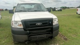 2008 FORD F150 EXTENDED CAB FWD, 4 DOOR, WHITE, 153,779mi.  s/n 1FTRX14W68F