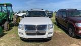 2009 FORD EXPLORER SUV, WHITE, 268,721mi. s/n 1FMEU63E39UA32673   (OWNED BY