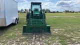 JOHN DEERE 4320 TRACTOR WITH BUCKET, 400CX LOADER WITH FORKS, TOP LINK, SHO
