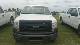 2013 FORD F150 REG CAB PICK UP, WHITE, SHOWING 125,711 mi.,            s/n