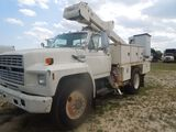 1992 Ford F700 Bucket Truck, White, Showing 97734 Miles, ALPCO # 04379, Vin
