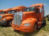 2013 Kenworth T660 Truck Tractor, Orange, Vin - 1XKAD49X2DJ368913, Showing