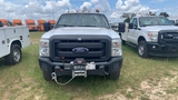 2014 FORD F350 WHITE WITH UTILITY BODY MILES 175653 VIN 1FDRD3F61DB46589