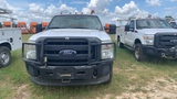 2014 FORD F350 WHITE WITH UTILITY BODY VIN 1FDRF3F60DEB46583        MILES 1