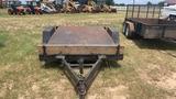 12FT UTILITY TRAILER METAL FLOOR BILL OF SALE ONLY
