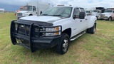 2012 CHEVROLET 3500HD DUALLY TRUCK WHITE WITH ALLISON TRANSMISSION 6.6 DIES