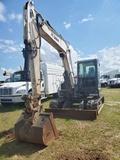 BOBCAT E-85 ESCAVATOR, S/N B34T11830, SHOWING 3697 HOURS