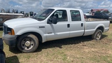 2006 FORD F350 POWER STROKE TURBO DIESEL CLUB CAB TRUCK WHITE MILES AS SHOW